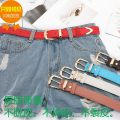 Belt / belt / chain other Red, blue, white, coffee, rose, fluorescent green, fluorescent yellow, pink, phosphor female Versatile Single loop Youth, youth, middle age 2cm Other / other