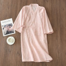 Nightgown / bathrobe Other / other lovers 165(M),170(L) Navy men's, gray men's, pink women's, dark blue women's, pink Mozhu women's, gray Mozhu men's, pink kitten women's, green kitten men's, green kitten women's Thin money Simplicity cotton spring More than 95% Knitted cotton fabric printing