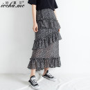 skirt Summer of 2019 S M L black longuette commute High waist Cake skirt Dot Type A 18-24 years old Chiffon Miocha.mc/ Miaoshar Korean version Exclusive payment of tmall 121g / m ^ 2 (including) - 140g / m ^ 2 (including)