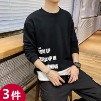 Sweater Youth fashion UNS M L XL 2XL 3XL 4XL other Socket routine Crew neck autumn easy leisure time youth tide routine UNSHH_ six thousand seven hundred and sixty-five polyester fiber Polyester 95% polyurethane elastic fiber (spandex) 5% polyester fiber printing No iron treatment Autumn of 2019