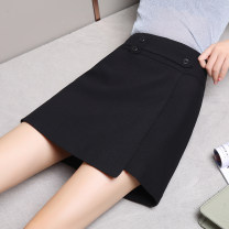 skirt Autumn 2020 26,27,28,29,30,31 Black regular, black tweed, Black PU Short skirt commute High waist Irregular Solid color Type A 25-29 years old XDQ20Y98315 71% (inclusive) - 80% (inclusive) Xu Erji polyester fiber Simplicity