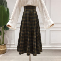 skirt Spring 2020 S,M,L,XL Red check, green check, black and white check Mid length dress commute High waist Umbrella skirt lattice Type A 18-24 years old NSL16001916 71% (inclusive) - 80% (inclusive) other Nianshangli other Korean version