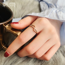 Ring / ring Titanium steel 51-100 yuan Han Jing No.5 (counter 8-10) No.6 (counter 11-13) No.7 (counter 14-15) No.8 (counter 16-18) No.9 (counter 19-21) brand new goods in stock Japan and South Korea female Fresh out of the oven Gold Plated inlaid artificial gem / semi gem other J273 Summer of 2019 no
