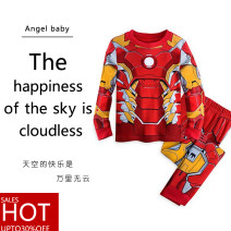 suit Other / other Black, orange, Spiderman, Captain America, iron man, Thor, Hulk, Batman, Superman 90cm, 100cm, 110cm, 120cm, 130cm, 140cm, 150cm. The clothes are two sizes smaller than Taiwan size male winter other Long sleeve + pants 2 pieces routine No model Socket nothing Cartoon animation