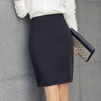 skirt Summer 2020 S,M,L,XL,2XL,3XL Black, khaki, navy Short skirt commute Natural waist Suit skirt Solid color Type H AMU2020B01 More than 95% other other Ol style 351g / m ^ 2 (including) - 400g / m ^ 2 (including)
