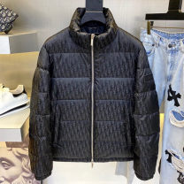 Down Jackets Black, silver Others White duck down S,M,L,XL Fashion City Other leisure routine routine Wear out Hoodless stand collar Wear out youth Below 100g (excluding) tide Closing sleeve Solid color 2020 jacquard weave nylon