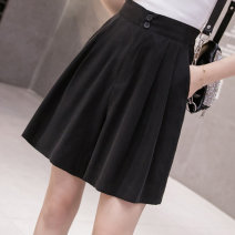 Casual pants Off white blue black S M L XL Summer 2020 shorts Wide leg pants High waist commute Thin money 25-29 years old 96% and above cotton Korean version pocket cotton Other 100% Pure e-commerce (online only)