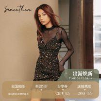 Dress Autumn 2020 goods in stock S M L Short skirt singleton  Sleeveless commute High waist Decor camisole 18-24 years old since then Retro DQ2007112 More than 95% Chiffon polyester fiber Polyethylene terephthalate (polyester) 100% Pure e-commerce (online only)