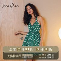 Dress Summer 2020 Picture color (in stock) for delivery within 7 days S M L Short skirt singleton  Sleeveless commute middle-waisted Dot zipper A-line skirt camisole 18-24 years old since then Retro More than 95% polyester fiber Polyethylene terephthalate (polyester) 100%