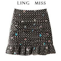 skirt Summer 2021 XS=155,S=160,M=165 navy blue Short skirt commute High waist skirt More than 95% other Yididisin Retro