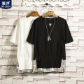 T-shirt Youth fashion White black thin M L XL 2XL 3XL 4XL 5XL Preface Short sleeve Crew neck easy Other leisure summer 19C-7625 Flax 60% cotton 40% Off shoulder sleeve tide Spring of 2019 Pure e-commerce (online only)