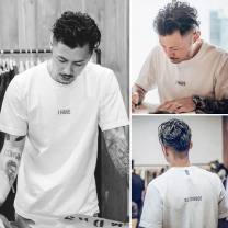 T-shirt Youth fashion routine S M L XL 3XL XXL Tidal series Short sleeve Crew neck easy Other leisure summer Cotton 100% teenagers routine tide Cotton wool Summer of 2019 Solid color printing cotton Creative interest No iron treatment Fashion brand Pure e-commerce (online only) More than 95%