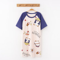 Nightdress Other / other HMG32001 , HMG32002 , HMG32003 , HMG32004 , HMG32005 , HMG32006 , HMG32007 , HMG32008 , HMG32009 , HMG32010 160(M),165(L),170(XL),175(XXL) Cartoon Short sleeve Leisure home Middle-skirt summer Cartoon animation youth Crew neck cotton printing More than 95% pure cotton