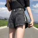 Women's large Summer 2020 Jeans singleton  commute easy thin Solid letters Korean version Denim polyester cotton Three dimensional cutting Yunnaier Fushi / yunnaier zipper Cotton 75% viscose 20% polyester 5% Pure e-commerce (online only) shorts
