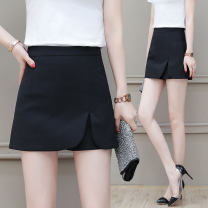 skirt Summer 2021 S M L XL 2XL 3XL White black gray pink Khaki Short skirt commute High waist A-line skirt Solid color Type A 25-29 years old YZC8026-1KKM 81% (inclusive) - 90% (inclusive) The creation of clothing polyester fiber zipper Korean version Pure e-commerce (online only)
