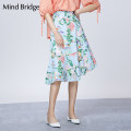 skirt Summer of 2018 160/S 165/M blue Mid length dress Natural waist 25-29 years old More than 95% Mind Bridge cotton Cotton 100%