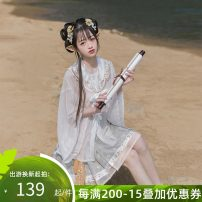 Hanfu 96% and above Summer 2021 One round neck cardigan to be delivered on May 20, one short horse face skirt to be delivered on May 20, one cloud shoulder to be delivered on May 20 XS S M L XL polyester fiber