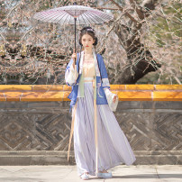 Hanfu 96% and above Summer 2021 One straight neck half sleeve shirt - one straight neck half sleeve shirt on May 15 - one waist pleated skirt on May 15 - one straight neck half sleeve shirt on May 15 - one straight neck half sleeve shirt on June 20 - one waist pleated skirt on June 20 XS S M L XL