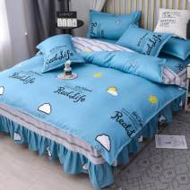 Bedding Set / four piece set / multi piece set Polyester (polyester fiber) other Plants and flowers 128x68 Other / other Polyester (polyester fiber) 4 pieces 40 Bed skirt Qualified products Simplicity twill Reactive Print  666888cqtj1_ rdv other
