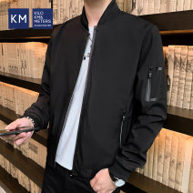Jacket KILO METERS Youth fashion black 170/M 175/L 180/XL 185/XXL 190/3XL routine easy Other leisure spring K530J13012 Polyester 100% Long sleeves Wear out Baseball collar tide routine Zipper placket Closing sleeve Spring 2020