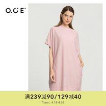 Dress Autumn 2020 Black, pink S,M,L,XL 25-29 years old even PWEQD01346 cotton