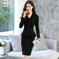 Professional dress suit S,M,L,XL,XXL Black, apricot, summer black short sleeve, summer apricot short sleeve Spring of 2018 Long sleeves twoy1588 Other styles Suit skirt 18-25 years old 91% (inclusive) - 95% (inclusive) polyester fiber