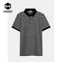 Polo shirt M6000 Youth fashion routine Black and white M L XL 2XL 3XL standard business affairs summer youth Cotton 47.5% viscose fiber (viscose fiber) 47.5% polyurethane elastic fiber (spandex) 5% Summer 2020