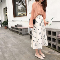 skirt Summer 2020 S M L Picture color Mid length dress High waist A-line skirt Decor Type A 18-24 years old LMWG36965 More than 95% Good girl other Other 100%
