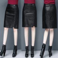 skirt Autumn of 2019 26/S 27/M 28/L 29/XL 30/2XL 31/3XL 32/4XL Mid length dress commute High waist skirt Solid color Type A 30-34 years old 81% (inclusive) - 90% (inclusive) other Chubi Viscose Korean version Pure e-commerce (online only)