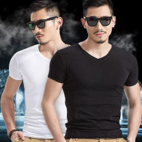 T-shirt Youth fashion routine S 65-80kg, m 80-100kg, l 100-120kg, XL 120-135kg, 2XL 135-150kg, 3XL 150-165kg, 4xl165-180kg, 5xl180-200kg Others Short sleeve Crew neck Self cultivation Other leisure summer New polyester fiber 95% polyethylene terephthalate (polyester) 5% youth routine tide Cotton wool