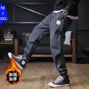 Jeans Fashion City Hankamen M L XL 2XL 3XL 4XL 5XL 6XL 7XL 8XL Plush and thicken Micro bomb Plush denim HKMJYF-JR--1903 trousers Cotton 70.7% polyester 21.5% new polyester 6.5% polyurethane elastic fiber (spandex) 1.3% winter Large size middle-waisted Haren pants Exquisite Korean style 2019
