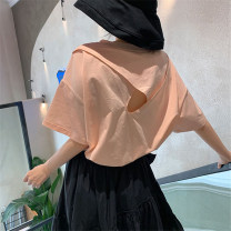 T-shirt Orange pink M L XL Summer 2021 Short sleeve Crew neck easy Regular routine commute polyester fiber 51% (inclusive) - 70% (inclusive) 18-24 years old Korean version originality Beautiful flower 3D Polyester 65% Cotton 30% polyurethane elastic fiber (spandex) 5% Pure e-commerce (online only)