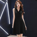 Dress / evening wear Weddings, adulthood parties, company annual meetings, daily appointments XS S M L XL XXL XXXL Korean version Short skirt middle-waisted Summer 2020 Skirt hem Deep collar V zipper 18-25 years old Sleeveless Solid color ULH Other 100% Pure e-commerce (online only)