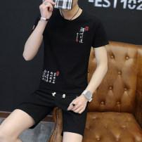 Leisure sports suit summer Short sleeve Eitebarry / aiterbury shorts youth MMC cotton Spring of 2018 Cotton and hemp