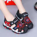 Sandals Other / other male Microfiber skin Red, blue, orange summer Baotou Antiskid rubber Velcro children Totems PU