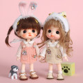 BJD doll zone suit 1/12 Over 8 years old goods in stock Rabbit suit, meow suit, fat rabbit suit, pink, fat rabbit suit, green Only baby suit, no doll, pre-sale