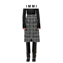 skirt Winter of 2019 0 2 1 grey Middle-skirt commute Natural waist A-line skirt Type A 25-29 years old IMMI Same model in shopping mall (sold online and offline)