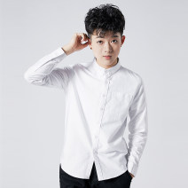 shirt Business gentleman Ka mark S M L XL XS XXL Solid blue solid gray stripe blue stripe gray white routine Button collar Long sleeves standard go to work Four seasons CS07 teenagers Cotton 100% Business Casual 2018 Solid color Summer of 2018 cotton Pure e-commerce (online only)
