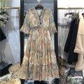 Dress Summer 2021 Decor M,L,XL singleton  Short sleeve commute V-neck Socket