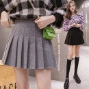 skirt Autumn 2020 S M L XL Light grey dark grey black apricot Short skirt commute High waist Pleated skirt Solid color 25-29 years old 512** More than 95% Biziyao other fold Korean version Other 100.00% Pure e-commerce (online only)