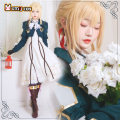 Cosplay women's wear suit goods in stock Over 14 years old [violet] dress + coat + brown gloves [violet] wig [violet] original shoes [violet] suit Brown gloves + wig delivery net [violet full set] suit + wig + shoes L m s XL average size Star diffuse field Japan Violet eternal Garden