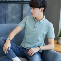 T-shirt Youth fashion routine M L XL 2XL 3XL 4XL Van redu Short sleeve Lapel Self cultivation Other leisure summer FLD-SS1919 Cotton 70% polyethylene terephthalate (polyester) 26% polyurethane elastic fiber (spandex) 4% youth routine Youthful vigor Knitted fabric Summer of 2019 Solid color