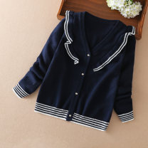 Sweater / sweater 110cm 120cm 130cm 140cm 150cm 160cm other female Royal Blue scarlet Kuyebeam / kuyebear college No model Socket routine V-neck nothing Ordinary wool other Polyacrylonitrile fiber (acrylic fiber) 55% cotton 45% T1070 Class B Long sleeves Spring 2020 spring and autumn