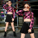 Children's performance clothes Top + vest, skirt + belt, suit female 120cm,130cm,140cm,150cm,160cm,170cm Su Muge J3293 Street dance Five, six, seven, eight, nine, ten, eleven, twelve, thirteen, fourteen Hip hop