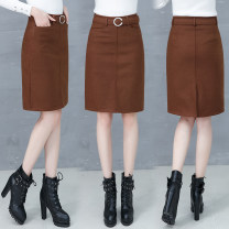skirt Winter 2017 S M L XL 2XL 3XL 4XL Army green Khaki Middle-skirt commute High waist A-line skirt Solid color 18-24 years old 81% (inclusive) - 90% (inclusive) Water is still beautiful polyester fiber Three dimensional pocket decoration, zipper and thread decoration Korean version