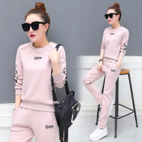 Casual suit Spring of 2019 S M L XL 2XL 3XL 18-25 years old xin881 Water is still beautiful Polyester 95% polyurethane elastic fiber (spandex) 5%