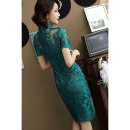 cheongsam Spring of 2019 S M L XL XXL XXXL Short sleeve Short cheongsam Retro High slit daily double-breasted  other 25-35 years old Piping ADX5625 An diexuan other Other 100% Pure e-commerce (online only) 96% and above