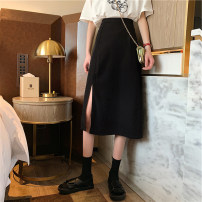 skirt Spring 2021 S,M,L Black, apricot Mid length dress commute High waist A-line skirt Solid color Type A 18-24 years old LSH8323 81% (inclusive) - 90% (inclusive) Korean version