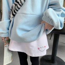 skirt Winter 2020 Average size Smiling face duck balloon small tree pure white Short skirt commute Natural waist Cartoon animation 18-24 years old 91% (inclusive) - 95% (inclusive) Mengyingchun cotton printing Korean version Cotton 95% polyurethane elastic fiber (spandex) 5%