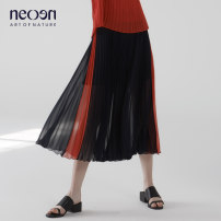Casual pants S M L Autumn 2020 trousers Wide leg pants Natural waist commute routine 30-34 years old other fold Polyester 100% Same model in shopping mall (sold online and offline)